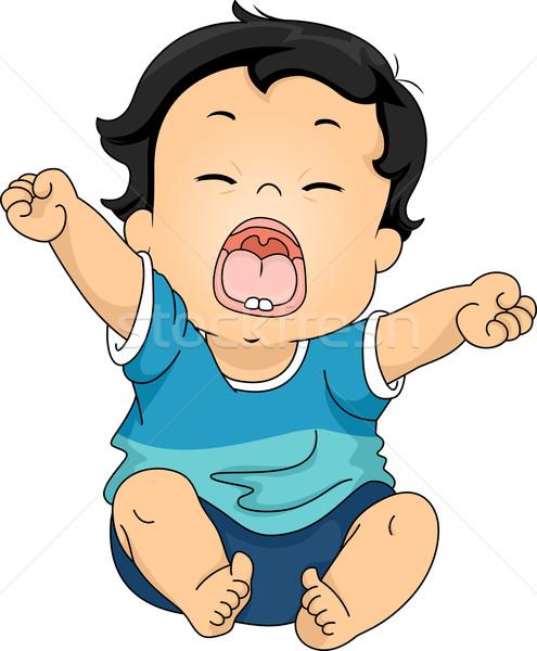 赤ちゃん 実例 ストレッチング 腕 小さな ストックフォト © lenm