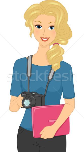 Female Photographer Stock photo © lenm