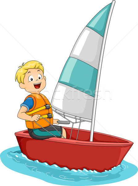 Sailing Boy Stock photo © lenm
