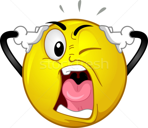 Mascotte illustration art web fou Photo stock © lenm