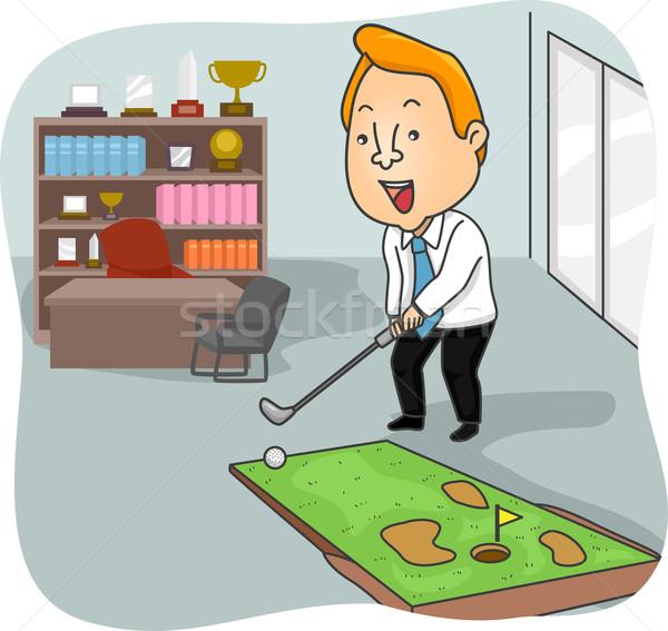 Man Office Golf Stock photo © lenm