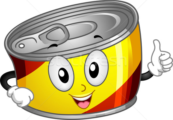 Canned Food Mascot Stock photo © lenm