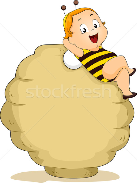 Baby Bee Boy with Beehive  Stock photo © lenm