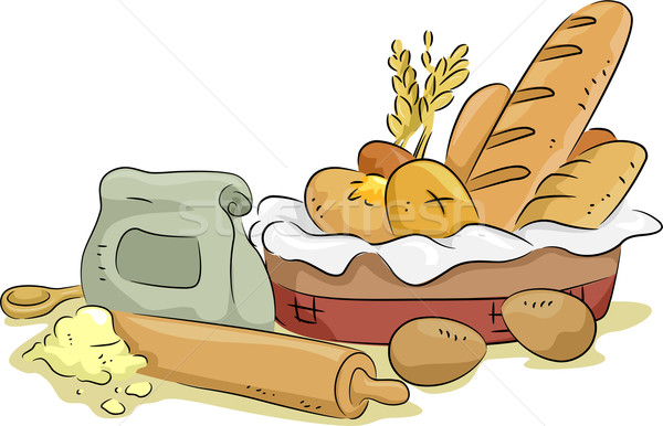 Bread and Baking Materials and Ingredients Stock photo © lenm