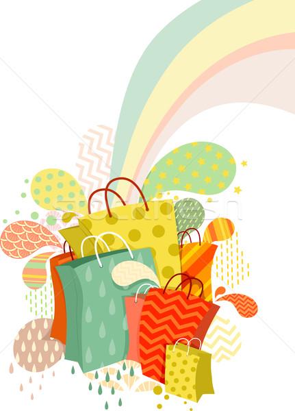 Abstract Shopping Bags Design Stock photo © lenm