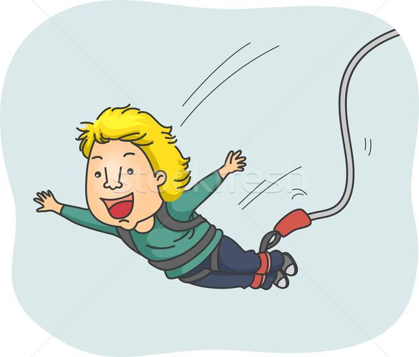 Atlamak örnek adam mutlulukla spor erkek Stok fotoğraf © lenm