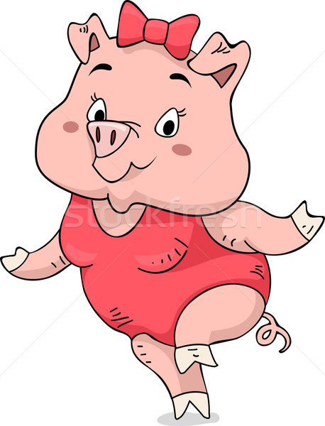 Pig Swimsuit Stock photo © lenm