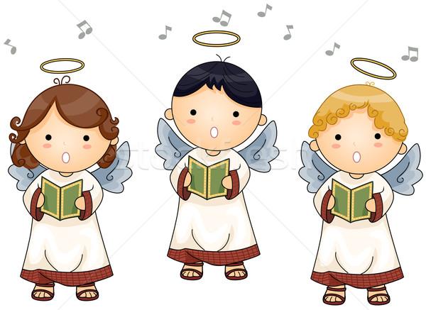 Angels singing Stock photo © lenm