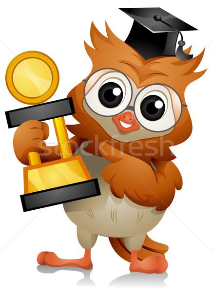 Owl Trophy Stock photo © lenm