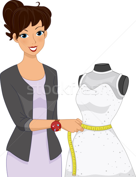 Dress Alteration Mannequin Stock photo © lenm