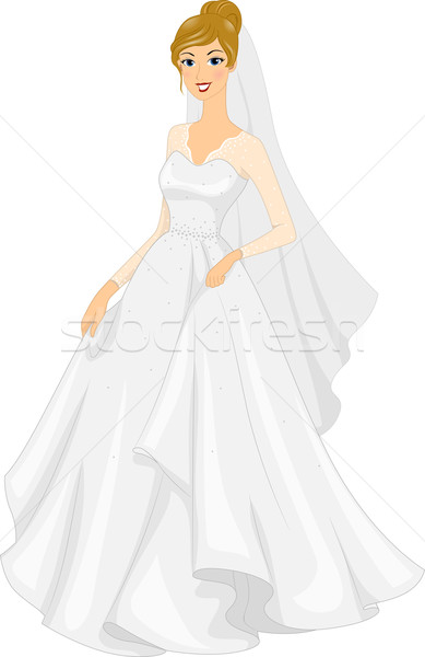 Bridal Gown Stock photo © lenm