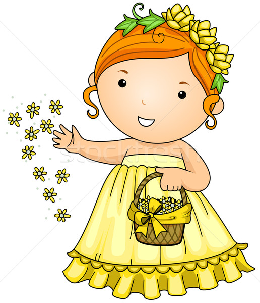 Flower Girl Stock photo © lenm