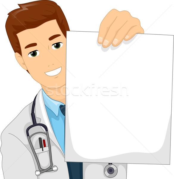 男医生侧脸照片_商业照片: 男医生 · 白纸 · 插图 · 医生 · 白大褂