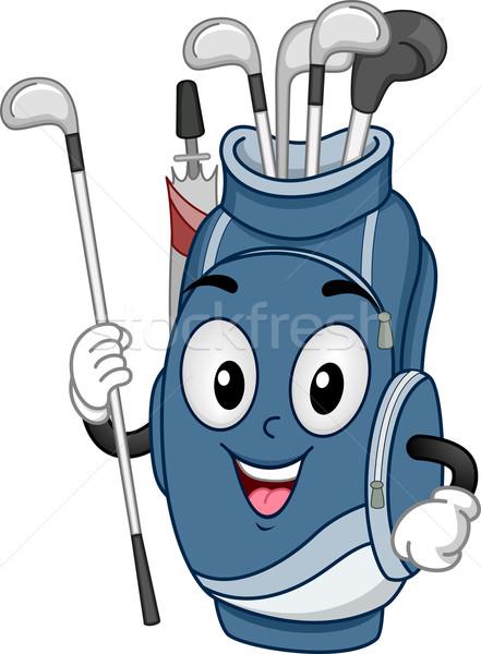 талисман сумка для гольфа иллюстрация гольф-клубов сумку Сток-фото © lenm