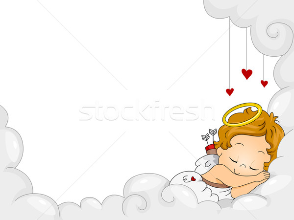 Baby slapen hemel wolken kind ontwerp vector illustratie lenm 704141 stockfresh - Ontwerp kind ...