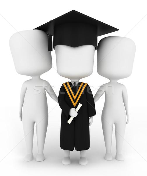 Семейный портрет 3d иллюстрации выпускник позируют семьи человека Сток-фото © lenm