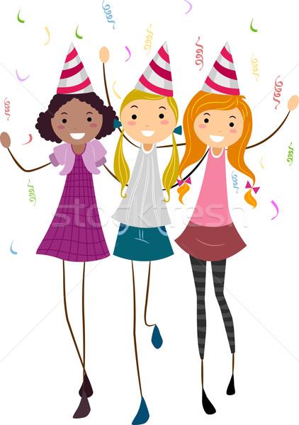 Birthday Friends Stock photo © lenm