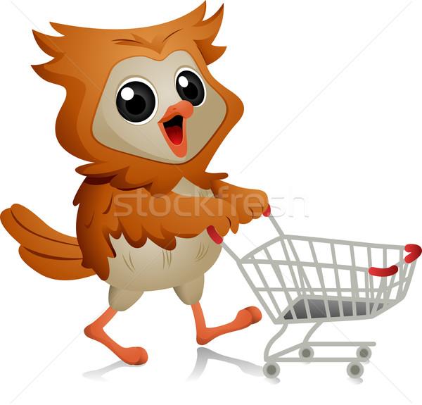 Shopper Owl Stock photo © lenm