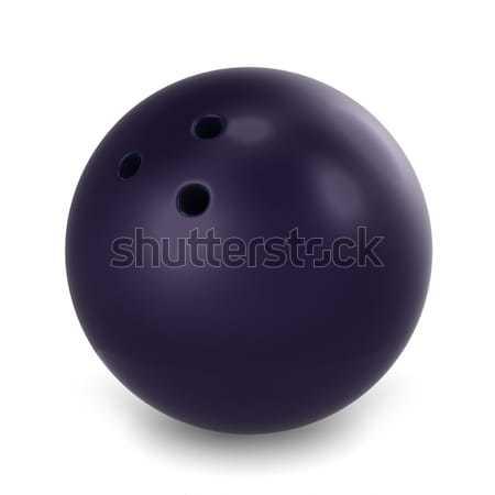Bowling topu 3d illustration spor bowling karikatür tutku Stok fotoğraf © lenm