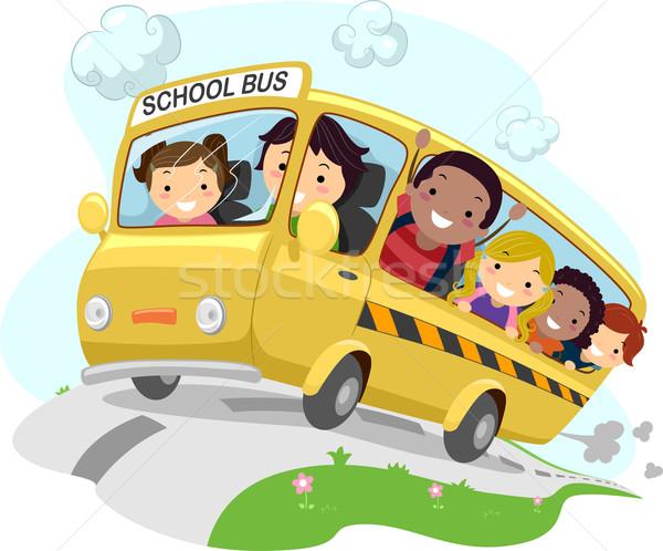 иллюстрация школы дети верховая езда ребенка студент Сток-фото © lenm