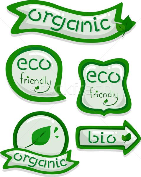 Eco-friendly Stickers Stock photo © lenm