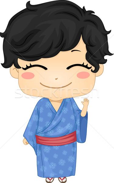 мало Японский мальчика костюм иллюстрация Сток-фото © lenm