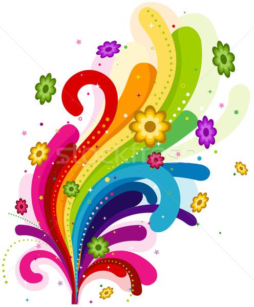 цветочный радуга аннотация дизайна Сток-фото © lenm