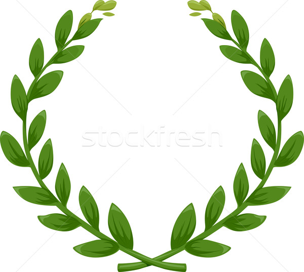 Green Laurel Wreath Stock photo © lenm