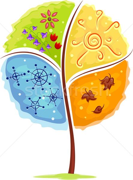 Four Seasons Tree Stock photo © lenm