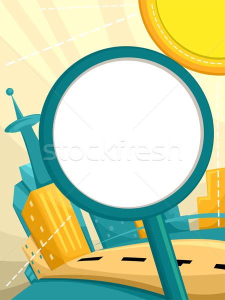 Podpisania lata urban scene ilustracja słońce Zdjęcia stock © lenm
