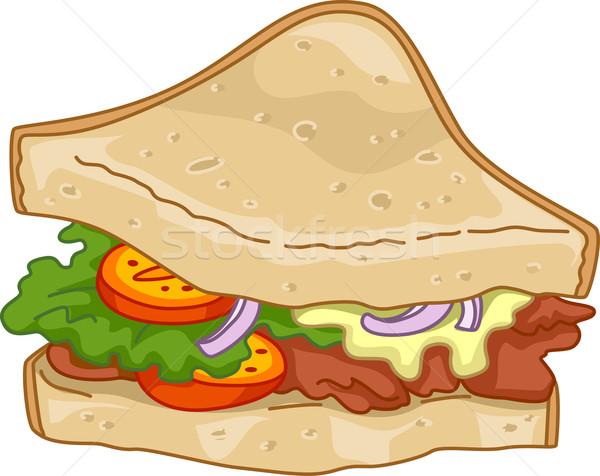 Club House Sandwich Stock photo © lenm