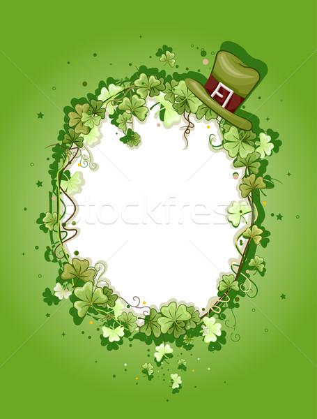 Szent nap illusztráció keret Szent Patrik napja ünnep Stock fotó © lenm