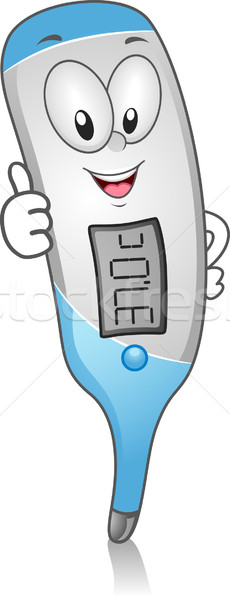 Digital Thermometer Clip Art