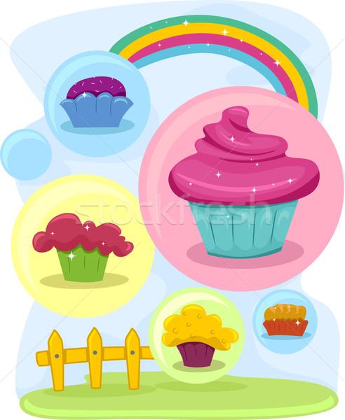 Cupcakes Stock photo © lenm