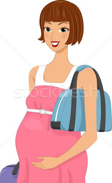 Hamile seyahat örnek hamile kadın Stok fotoğraf © lenm