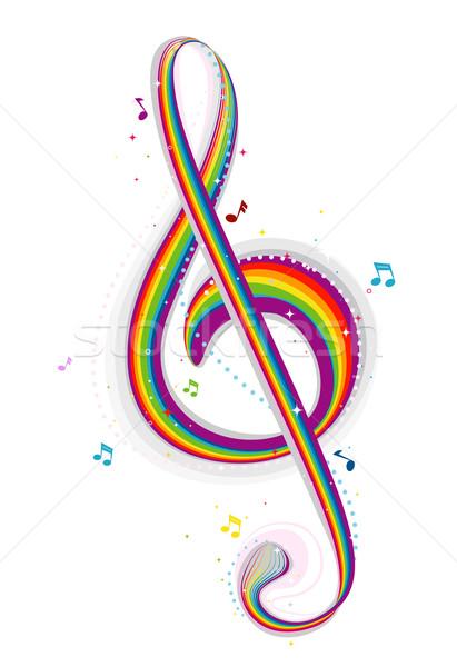 虹 音楽 デザイン 色 ストックフォト © lenm
