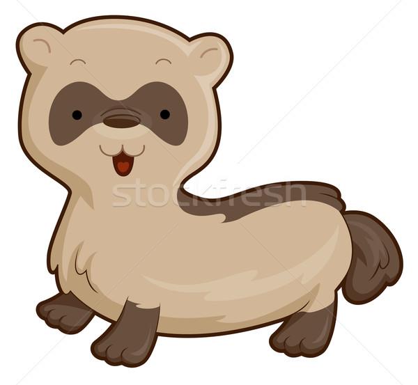 Stockfoto: Cute · fret · dier · cartoon · huisdier
