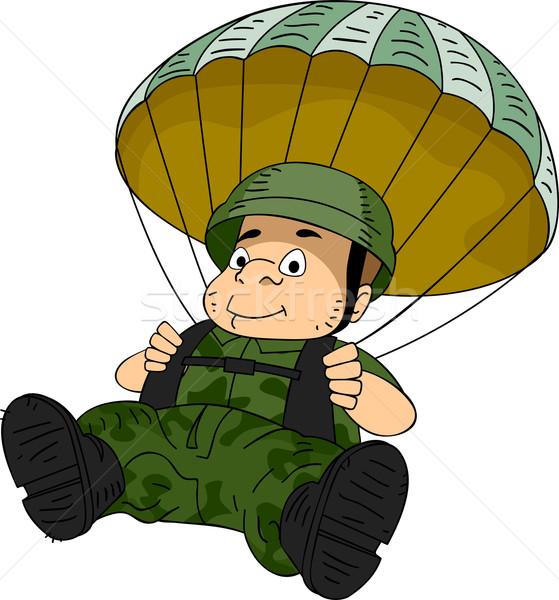 Paratrooper Stock photo © lenm