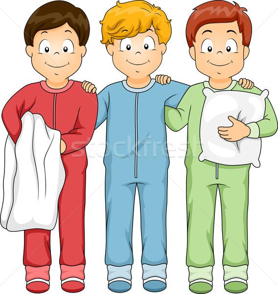 Sleepwear Boys Stock photo © lenm