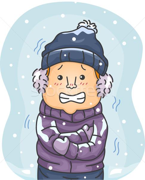 Shivering Man Stock photo © lenm