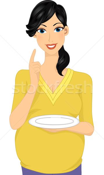 Gravidez apetite ilustração mulher grávida vazio Foto stock © lenm