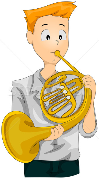 French Horn Stock photo © lenm