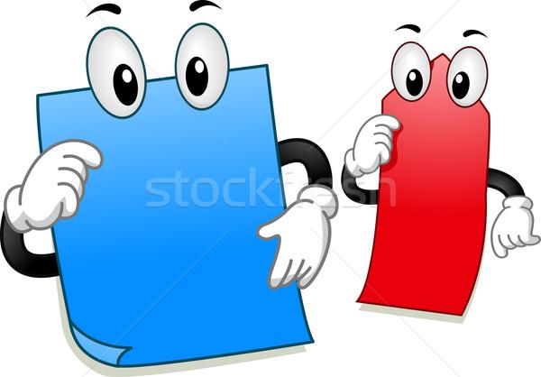 Sticky Note Mascot Stock photo © lenm