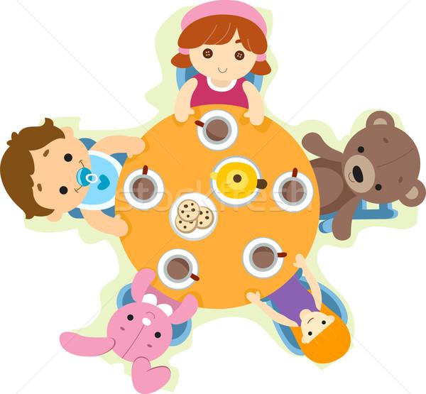 Dolls Tea Party Stock photo © lenm