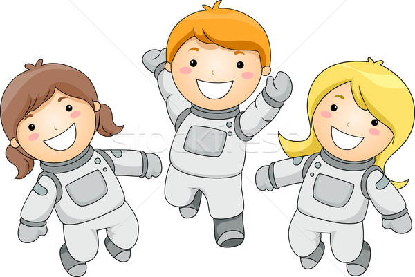 子供 実例 子供 子 スペース 星 ストックフォト © lenm