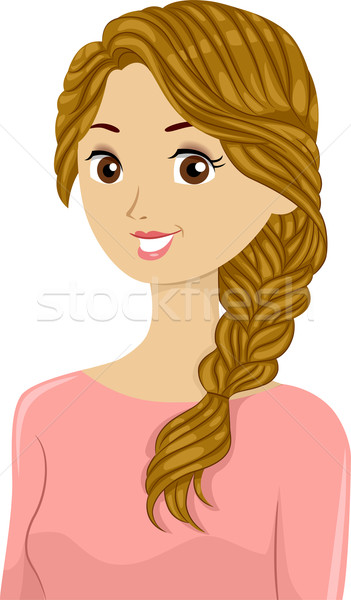Braided Girl Stock photo © lenm