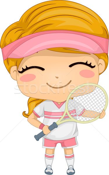 Tennis Girl Stock photo © lenm