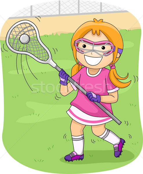 Lacrosse Girl Stock photo © lenm