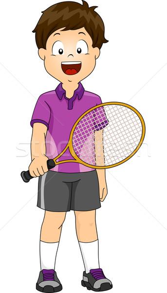 Lawn Tennis Boy Stock photo © lenm