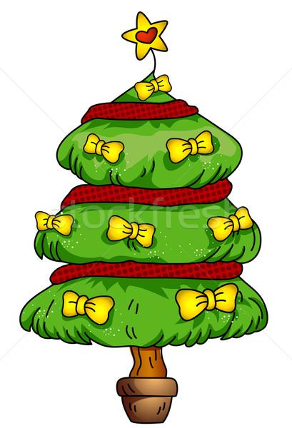 Stok fotoğraf: Noel · ağacı · dizayn · dekore · edilmiş · altın · Noel